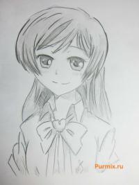 Рисунок Нанами Момодзоно из аниме Очень приятно, Бог