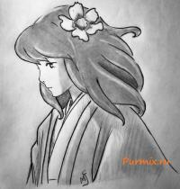 Наоко Сатоми из аниме Ветер крепчает карандашом