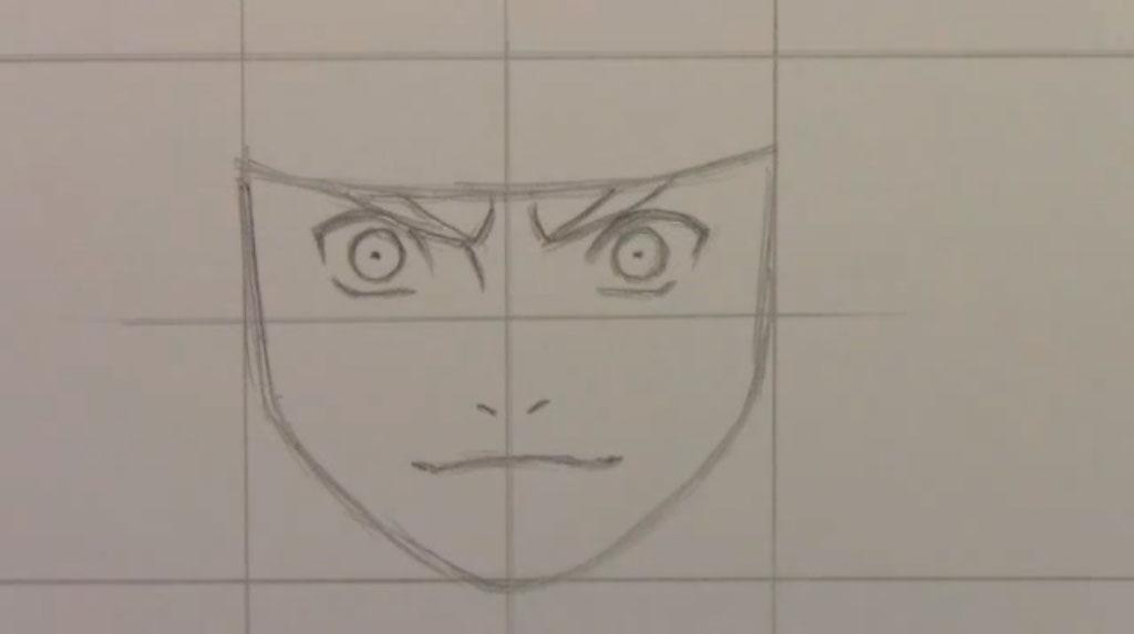 Рисуем Наруто Удзумаки для начинающих - шаг 3