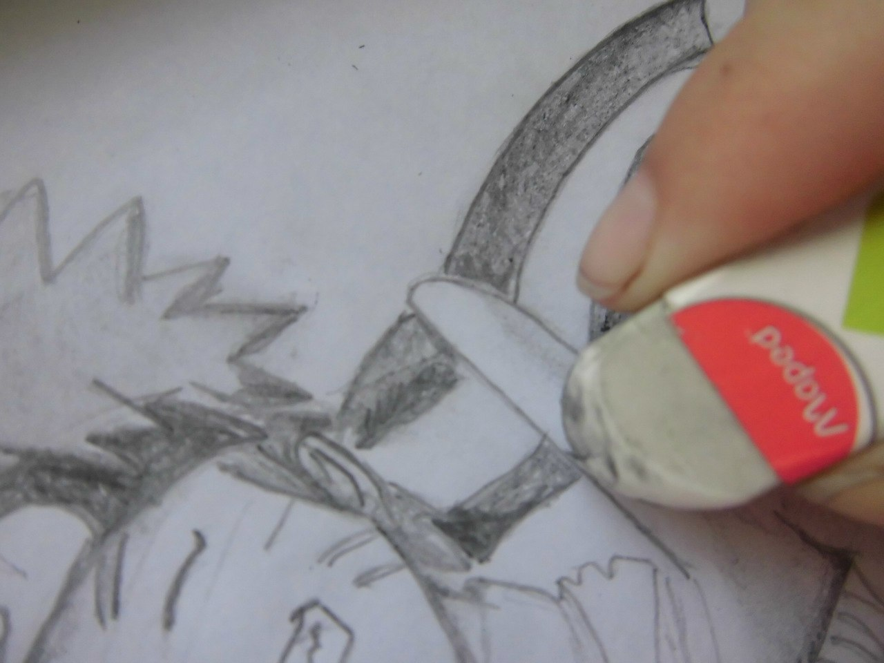 Рисуем Наруто с ножом - шаг 10