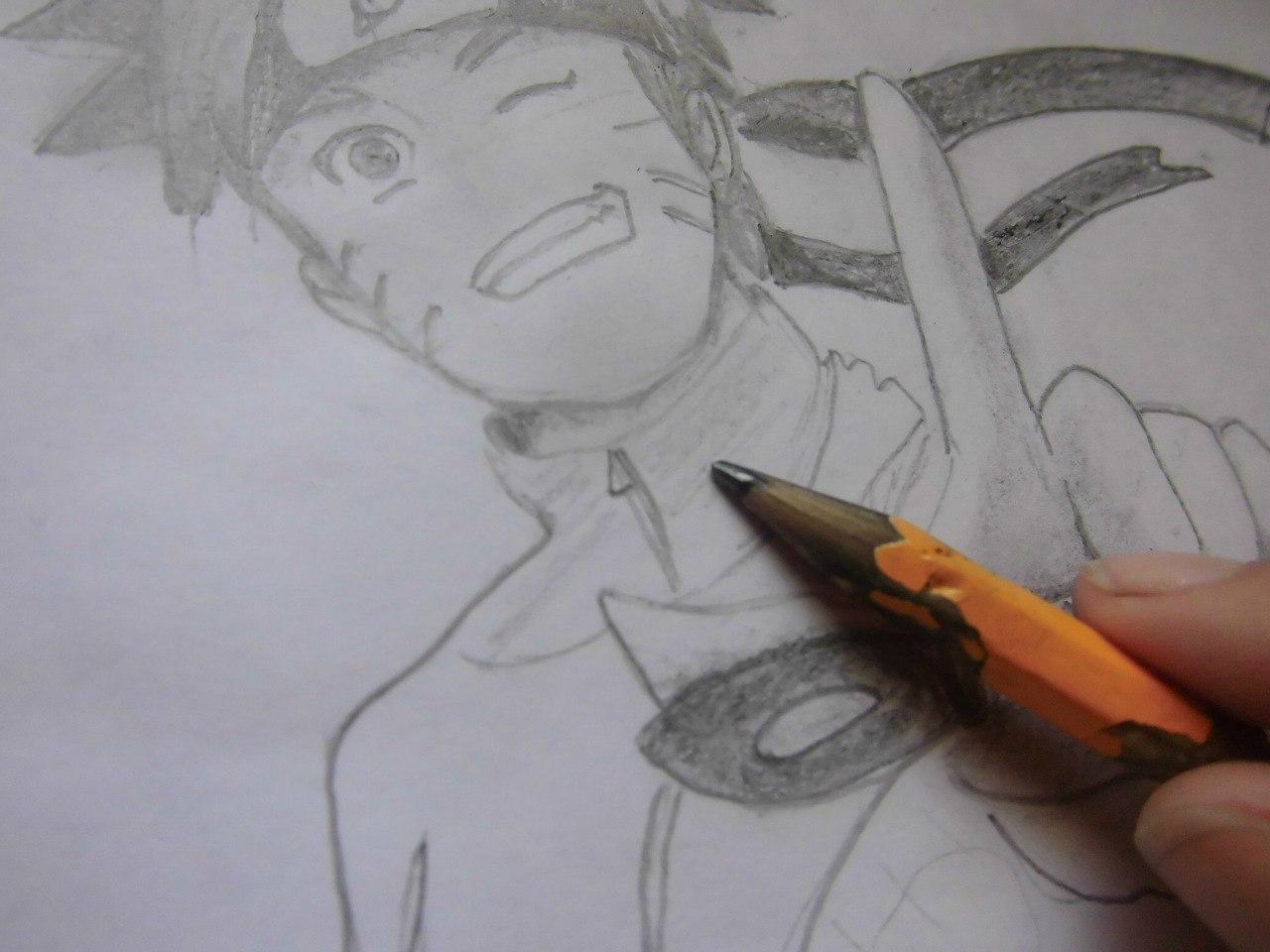 Рисуем Наруто с ножом - шаг 13