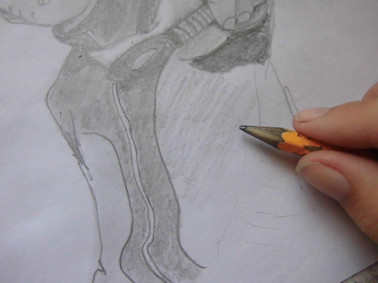 Рисуем Наруто с ножом - шаг 14