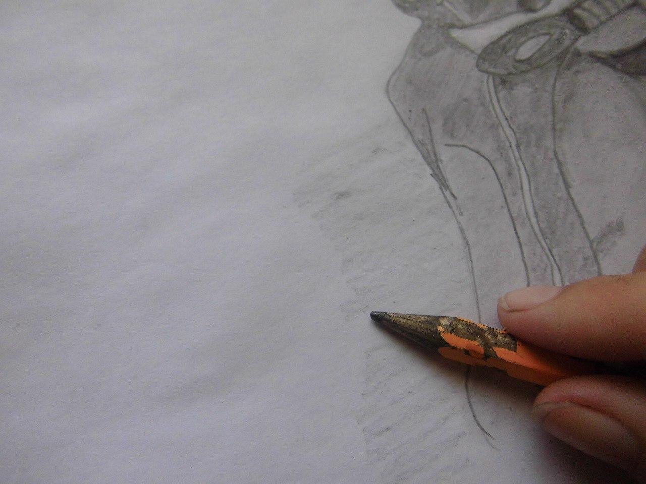 Рисуем Наруто с ножом - шаг 15