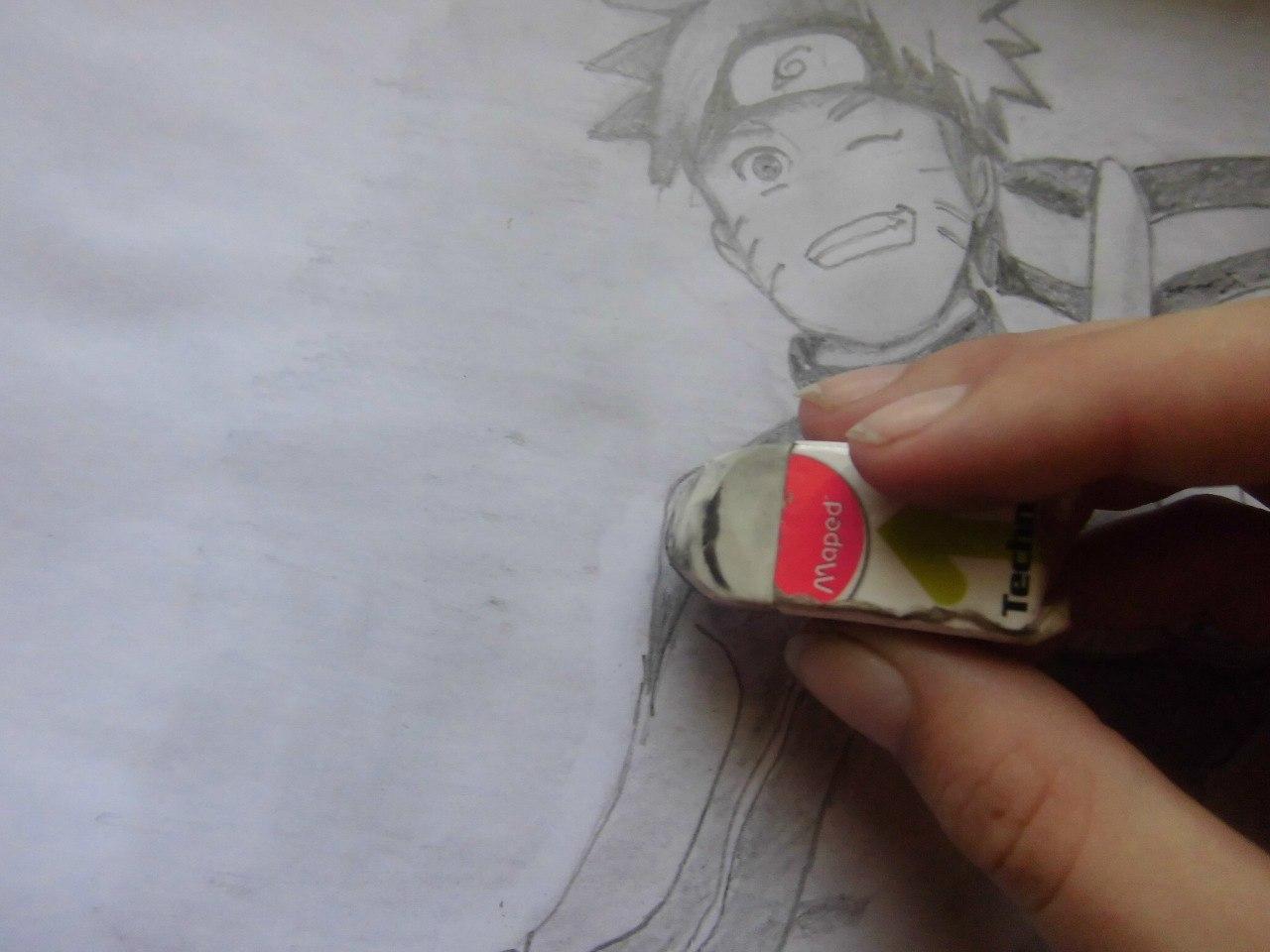 Рисуем Наруто с ножом - фото 16