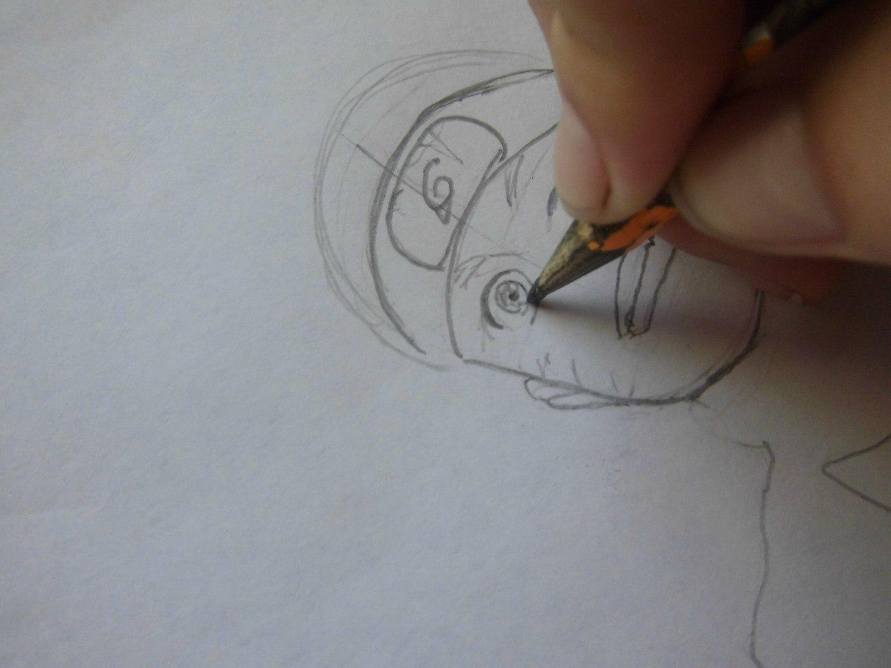 Рисуем Наруто с ножом - фото 2