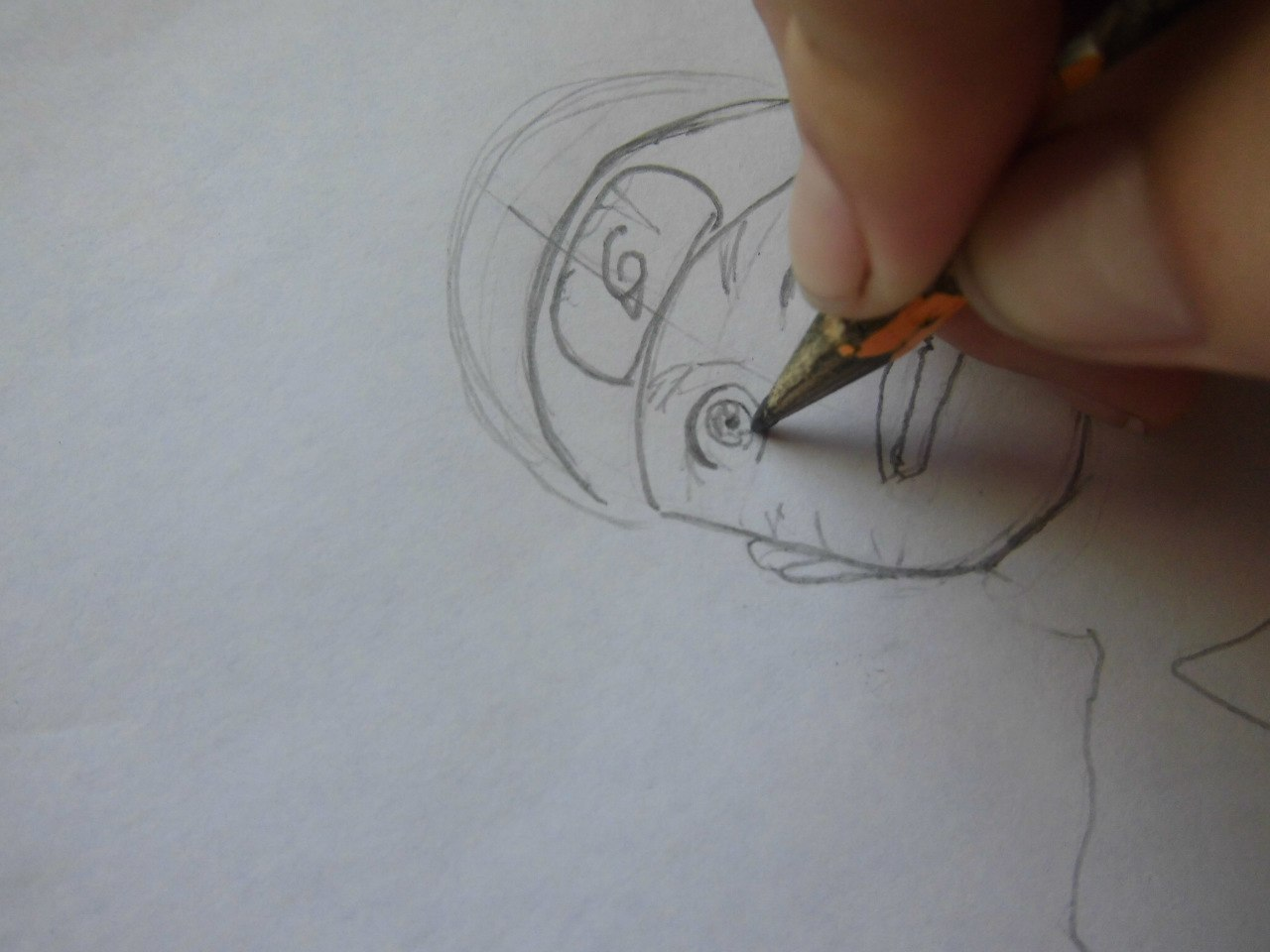 Рисуем Наруто с ножом - шаг 2