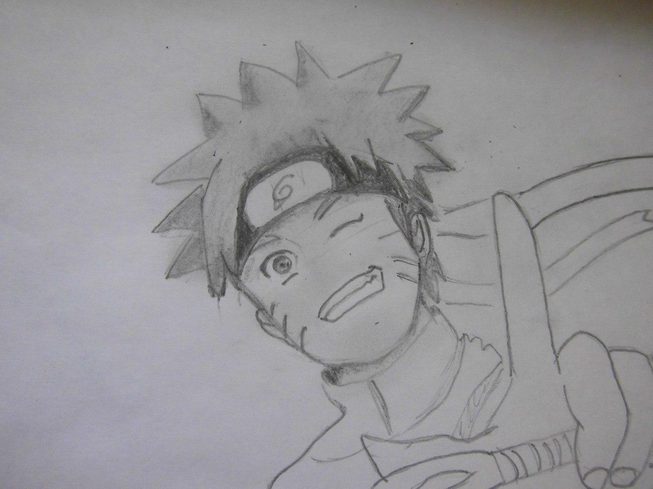 Рисуем Наруто с ножом - шаг 7