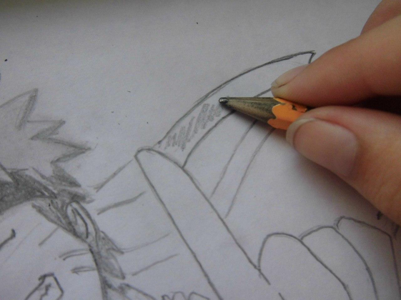 Рисуем Наруто с ножом - фото 8