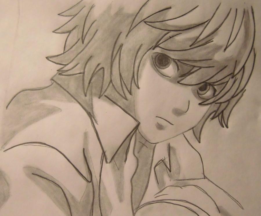 Как нарисовать Ниа из аниме Терадь смерти карандашом поэтапно