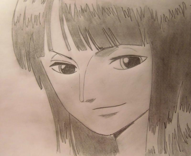 Рисуем Нико Робин из One Piece