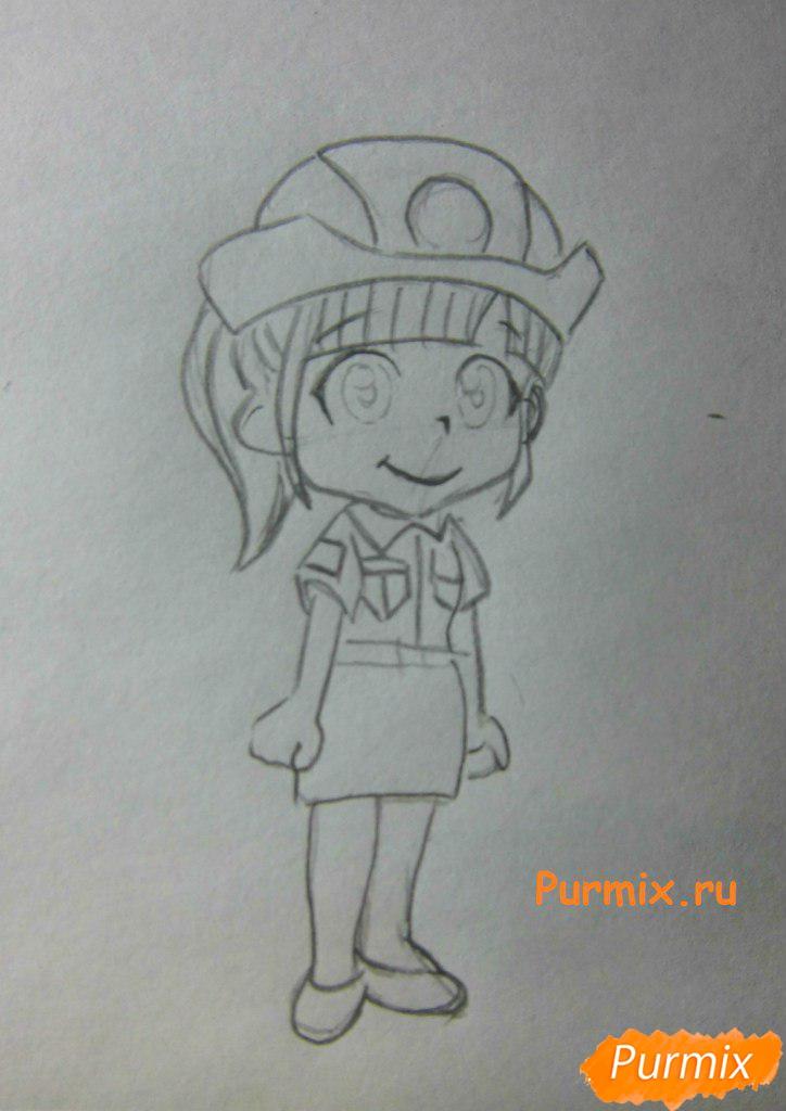 Рисуем Нотти из аниме Неуловимая воровка Рейня - шаг 4