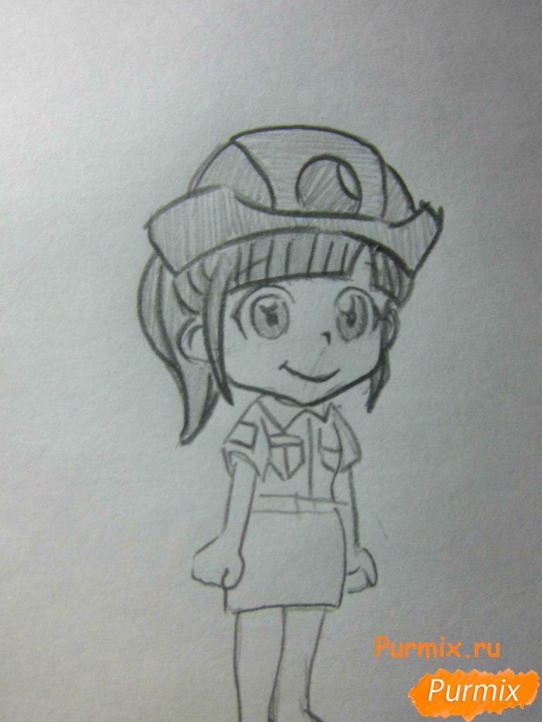Рисуем Нотти из аниме Неуловимая воровка Рейня - шаг 5