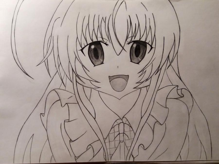 Рисуем Няруко из аниме Haiyore простым - фото 6