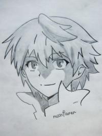 Оза Безариуса из аниме Сердце пандоры карандашом