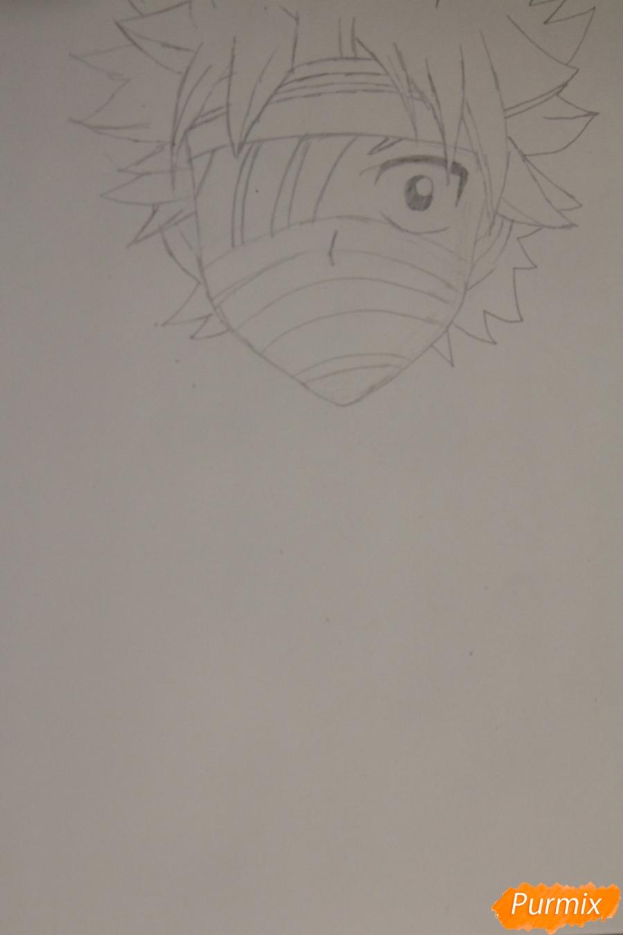 Рисуем перебинтованного Нацу из аниме Хвост Феи - шаг 2
