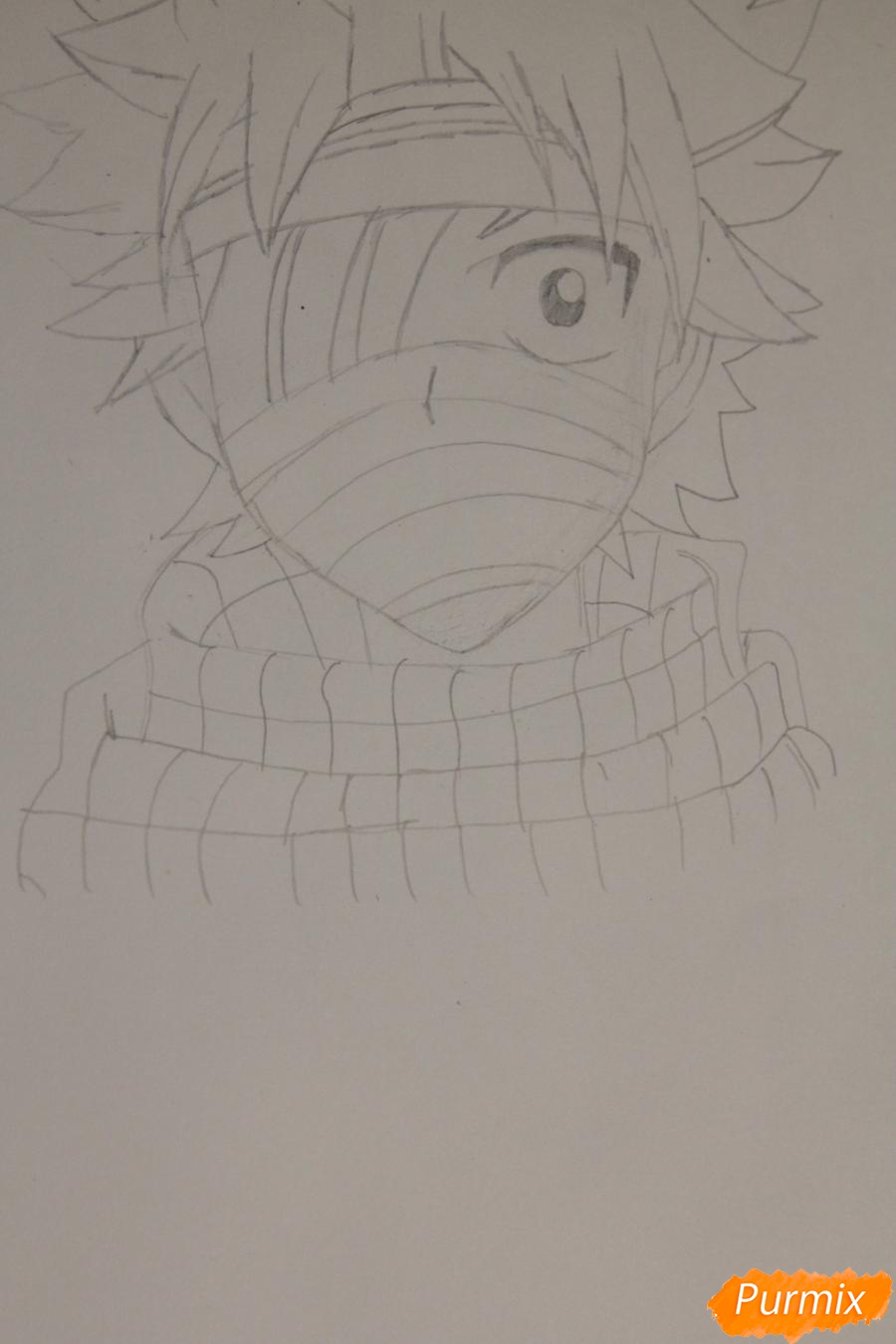 Рисуем перебинтованного Нацу из аниме Хвост Феи - шаг 3