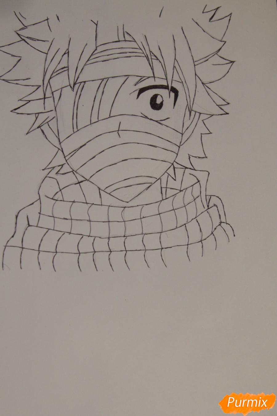 Рисуем перебинтованного Нацу - шаг 4