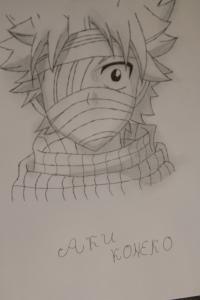 Как нарисовать перебинтованного Нацу карандашом поэтапно