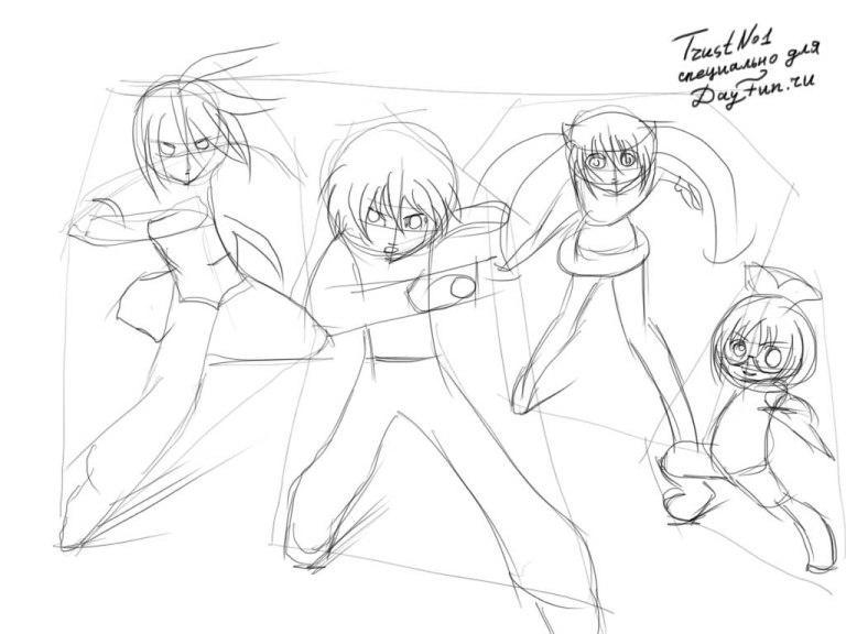 как рисовать аниме персонажей: