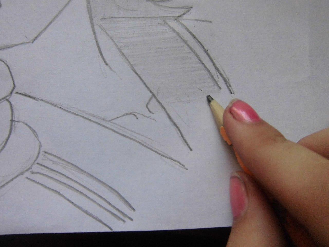 Рисуем подмигивающую Аниме няшу