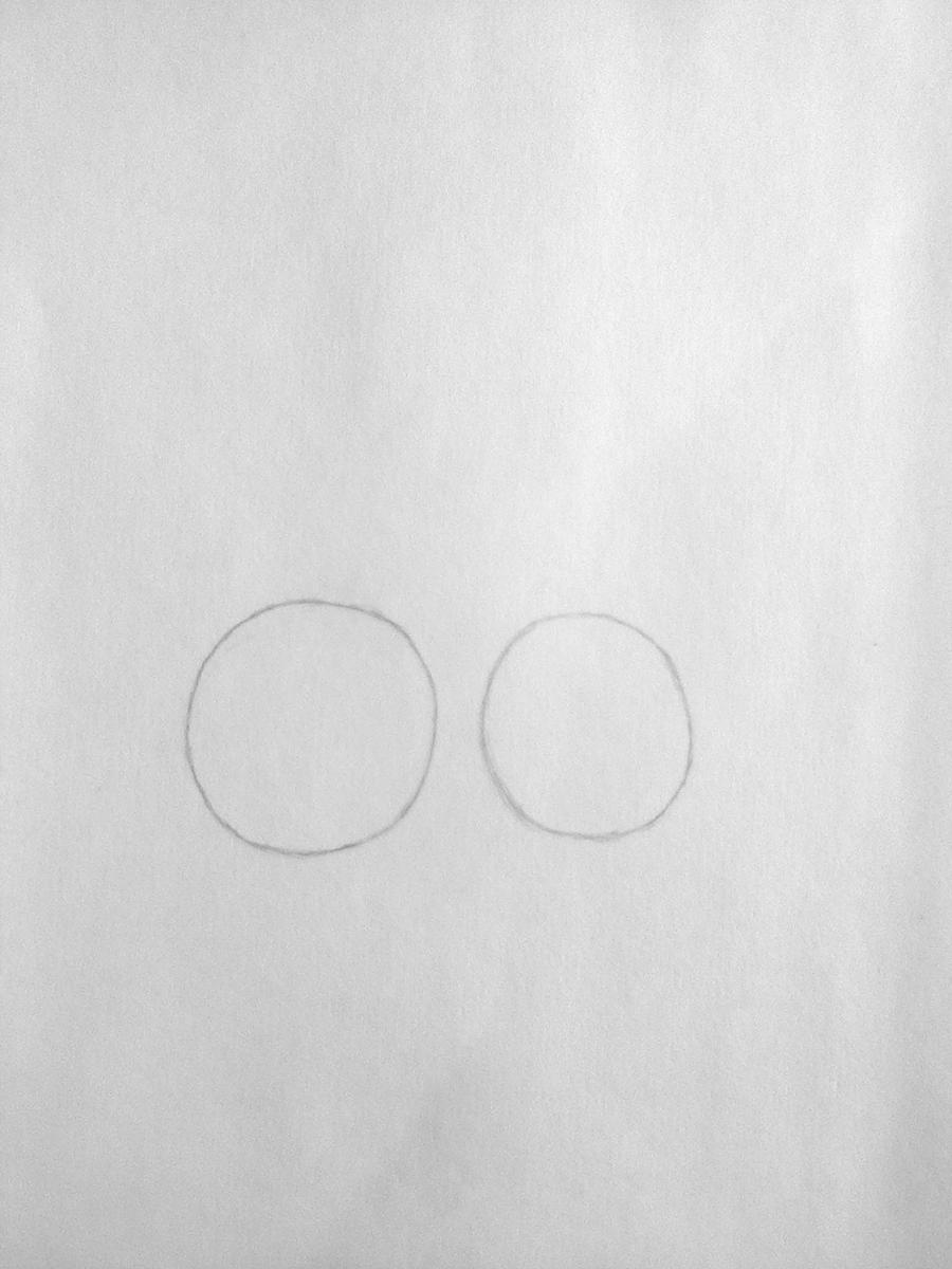 Рисуем покемона Лифеон цветными карандашами - шаг 1