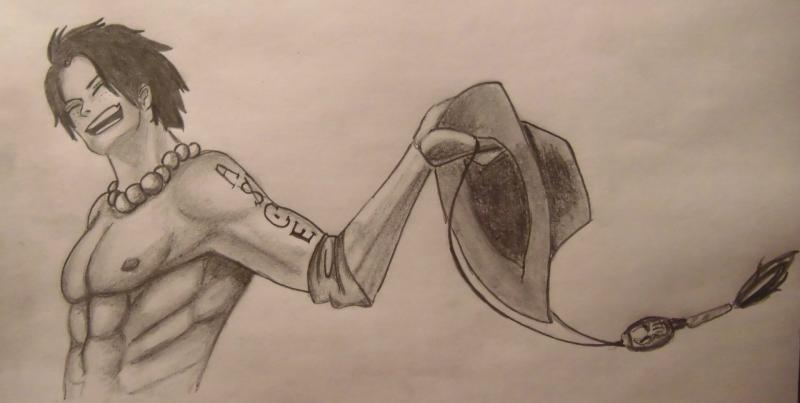 Рисуем Портгаса Д. Эйса из One Piece