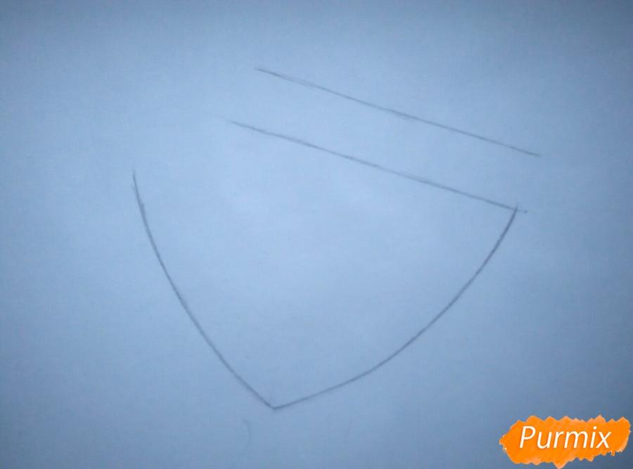 Рисуем портрет Аллена Уолкера из аниме Ди. Грей-мен - шаг 1