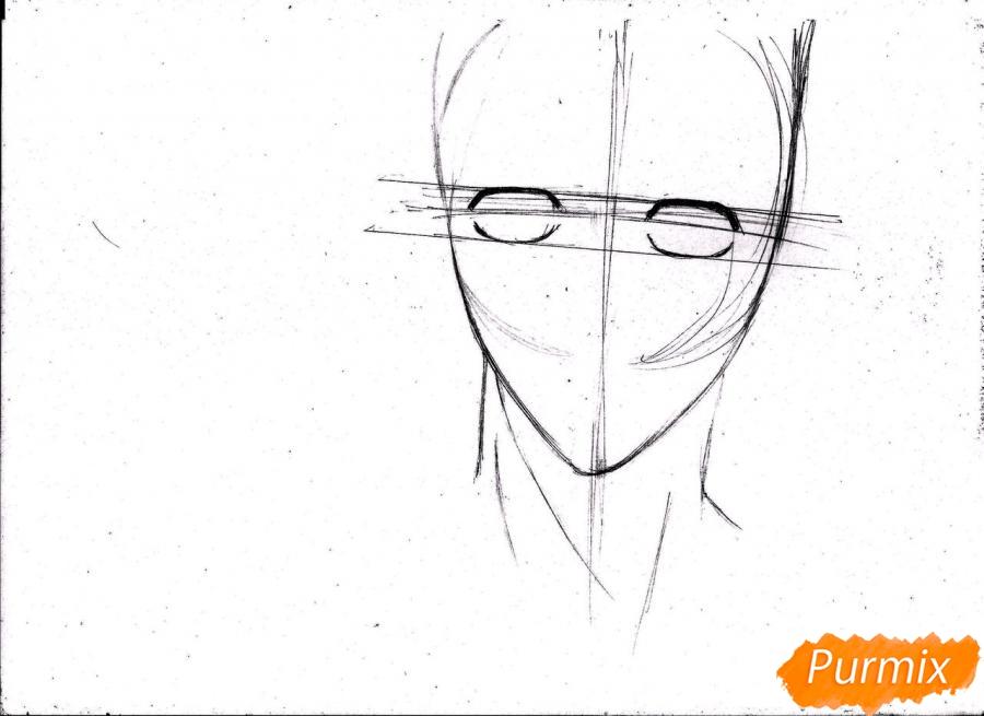 Рисуем портрет Куроко Тэцуя из Kuroko no Basuke простым - шаг 5