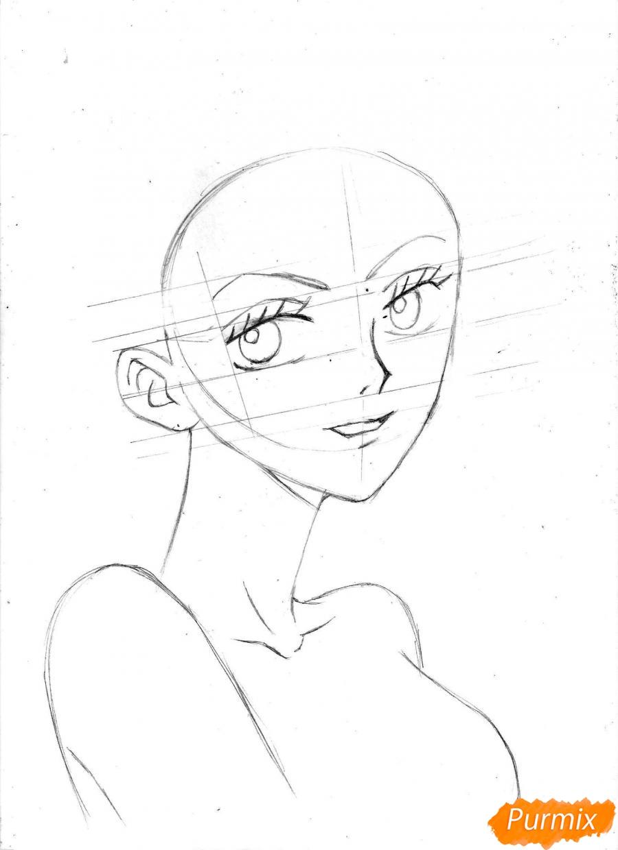 Рисуем и раскрасить портрет Ноджико из One Piece пошагово простым - шаг 11