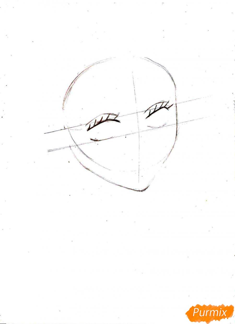 Рисуем и раскрасить портрет Ноджико из One Piece пошагово простым - шаг 3