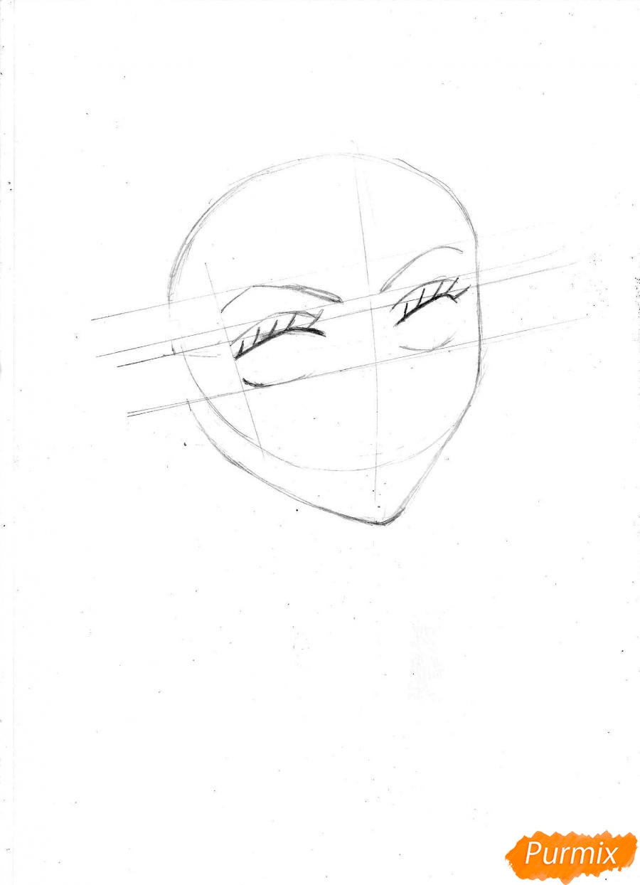Рисуем и раскрасить портрет Ноджико из One Piece пошагово простым - шаг 4