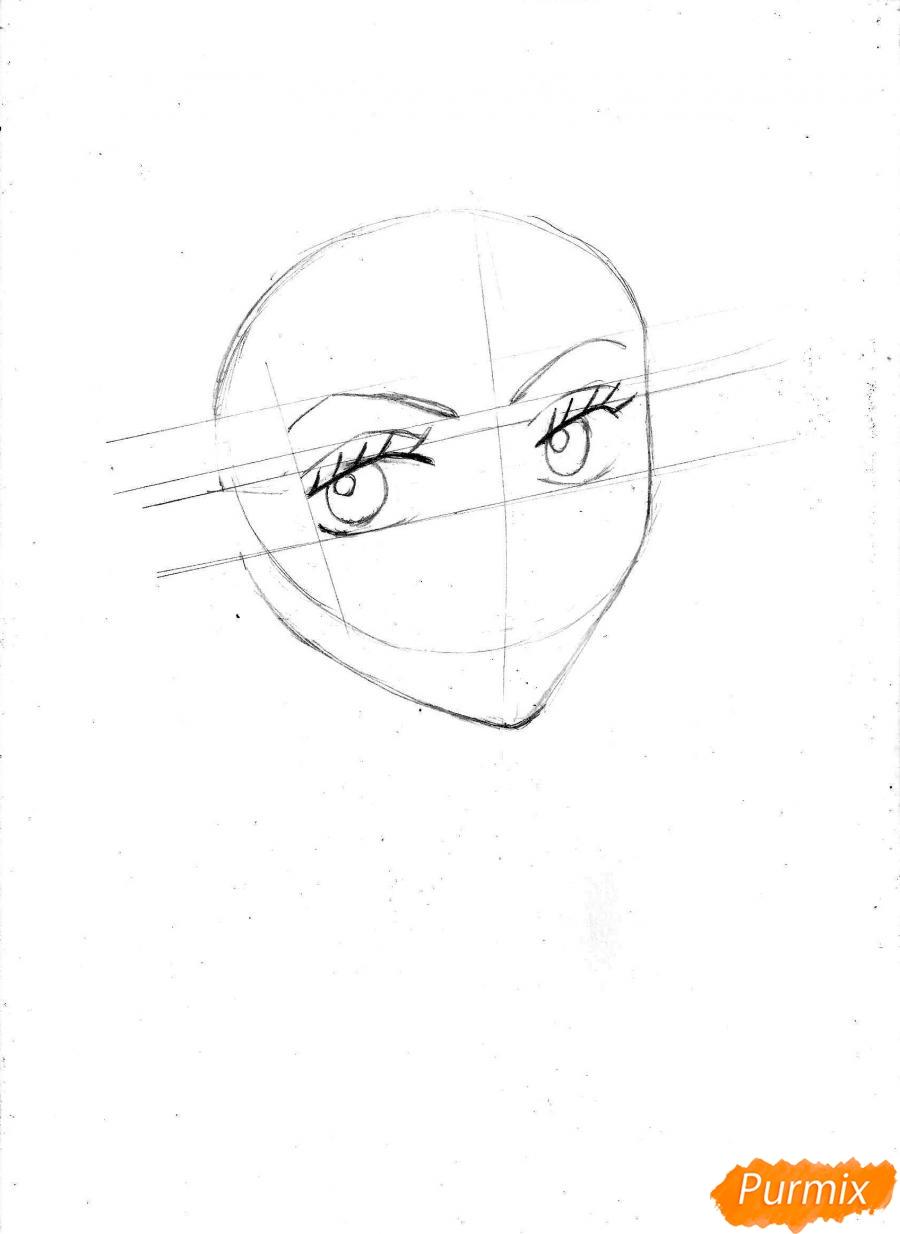 Рисуем и раскрасить портрет Ноджико из One Piece пошагово простым - шаг 5