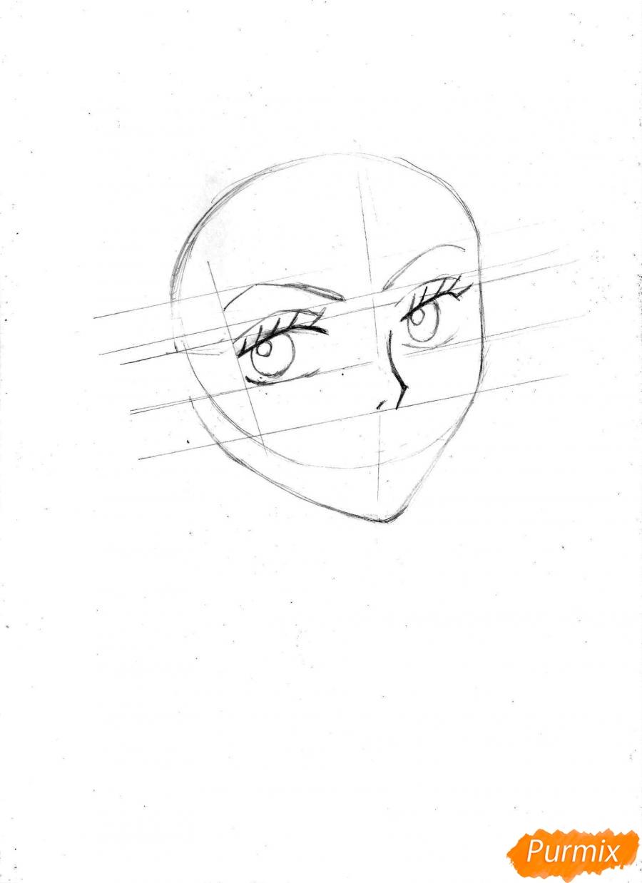 Рисуем и раскрасить портрет Ноджико из One Piece пошагово простым - шаг 6