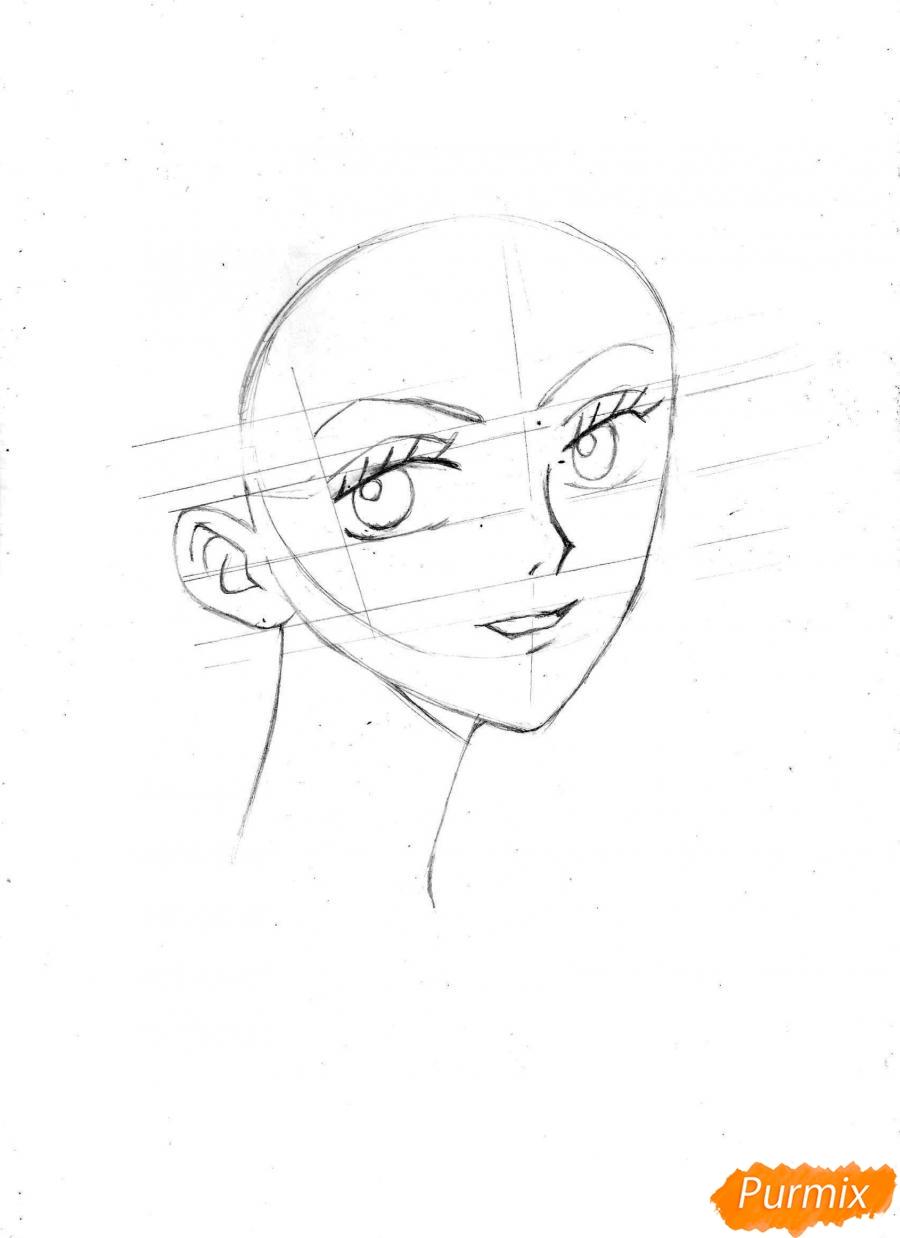 Рисуем и раскрасить портрет Ноджико из One Piece пошагово простым - шаг 9