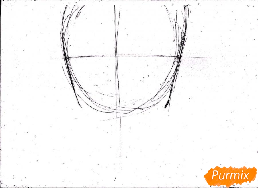 Рисуем портрет Ророноа Зоро из One Piece пошагово - шаг 2
