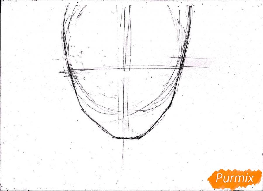 Рисуем портрет Ророноа Зоро из One Piece пошагово - шаг 3