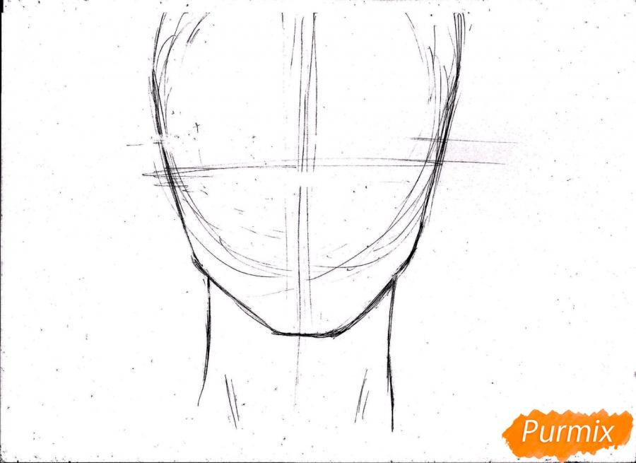 Рисуем портрет Ророноа Зоро из One Piece пошагово - шаг 4