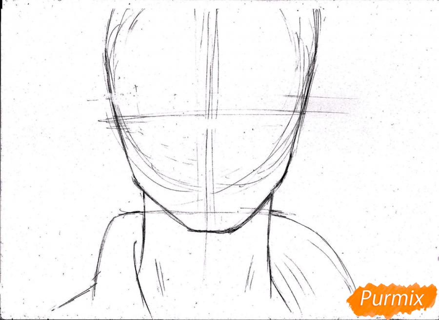 Рисуем портрет Ророноа Зоро из One Piece пошагово - шаг 5
