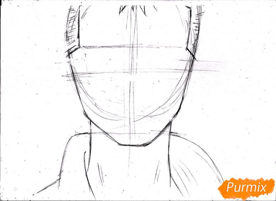 Рисуем портрет Ророноа Зоро из One Piece пошагово - шаг 6