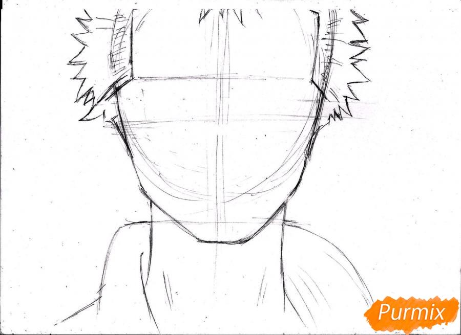 Рисуем портрет Ророноа Зоро из One Piece пошагово - шаг 7