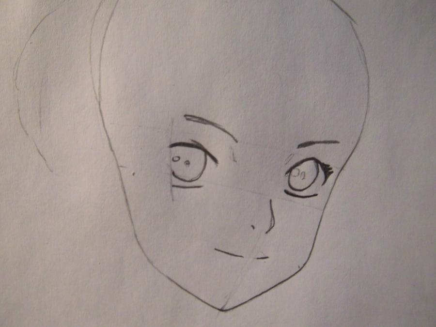 Рисуем портрет Сакуры из Наруто - шаг 2