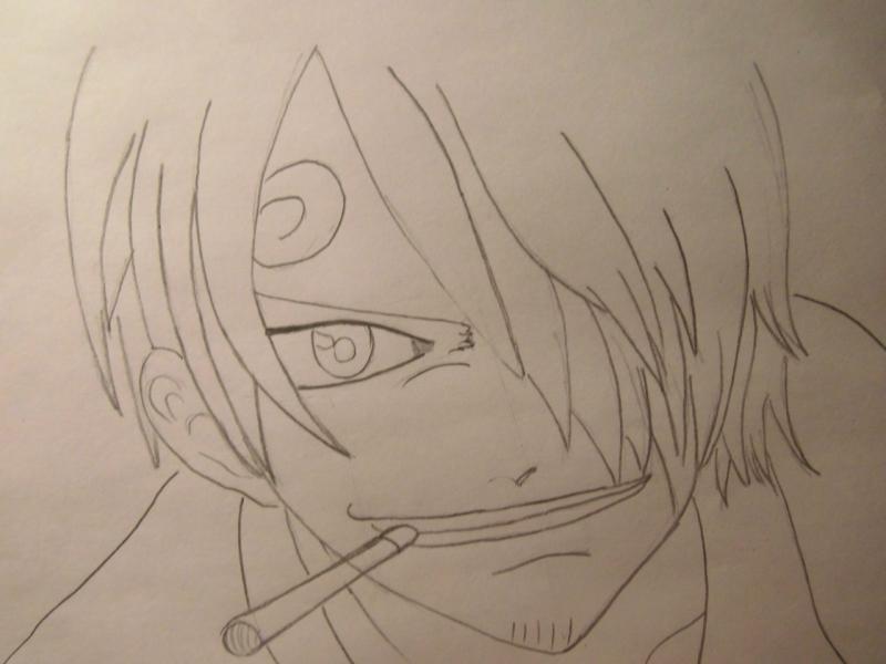 Рисуем портрет Санджи из One Piece