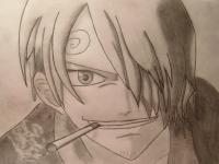 портрет Санджи из One Piece