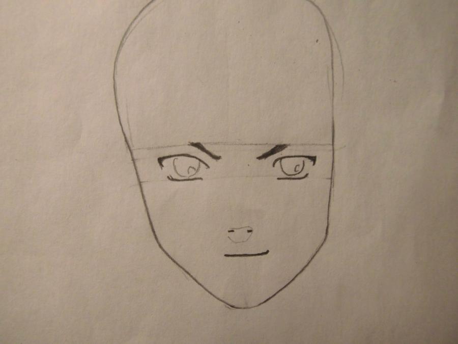 Рисуем портрет Саске Учиха - шаг 2