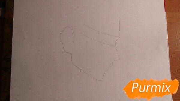 Рисуем профиль Леви Аккермана из аниме Атака титанов - шаг 1