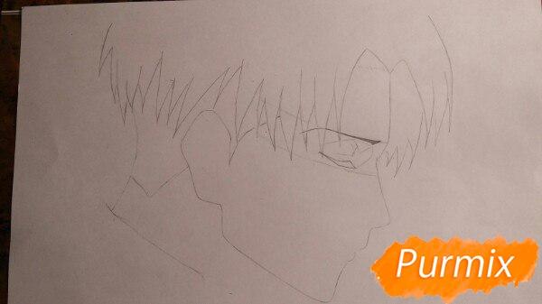 Рисуем профиль Леви Аккермана из аниме Атака титанов - шаг 3
