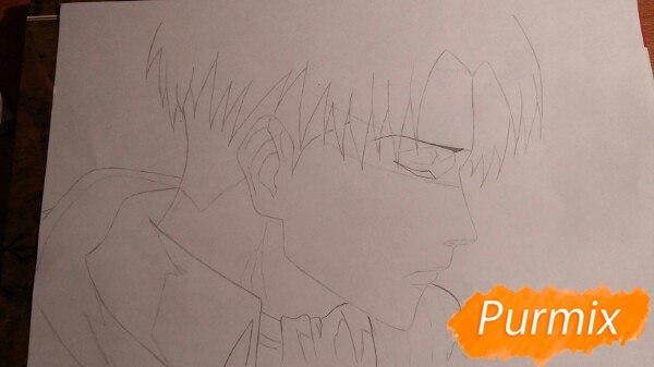 Рисуем профиль Леви Аккермана из аниме Атака титанов - шаг 5