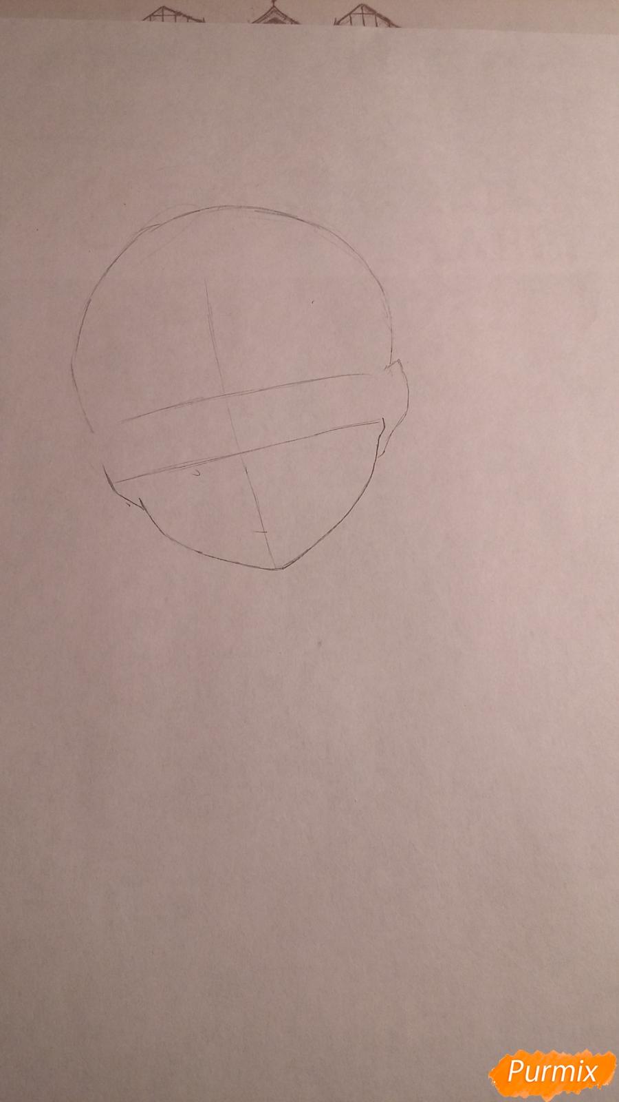 Как нарисовать протрет девушки в аниме стиле карандашом поэтапно - шаг 1