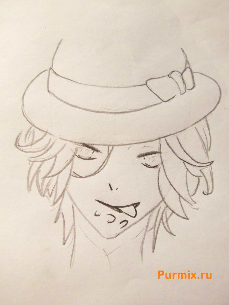Рисуем Райто Сакамаки из аниме Дьявольские возлюбленные - шаг 4