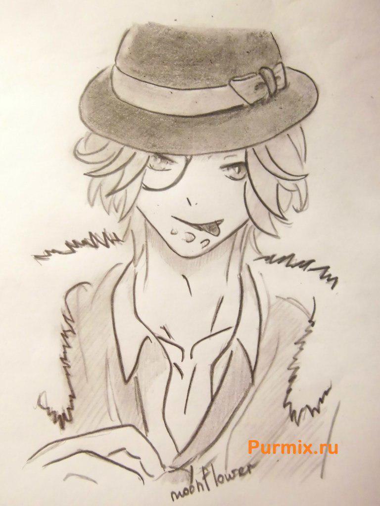 Рисуем Райто Сакамаки из аниме Дьявольские возлюбленные - шаг 8